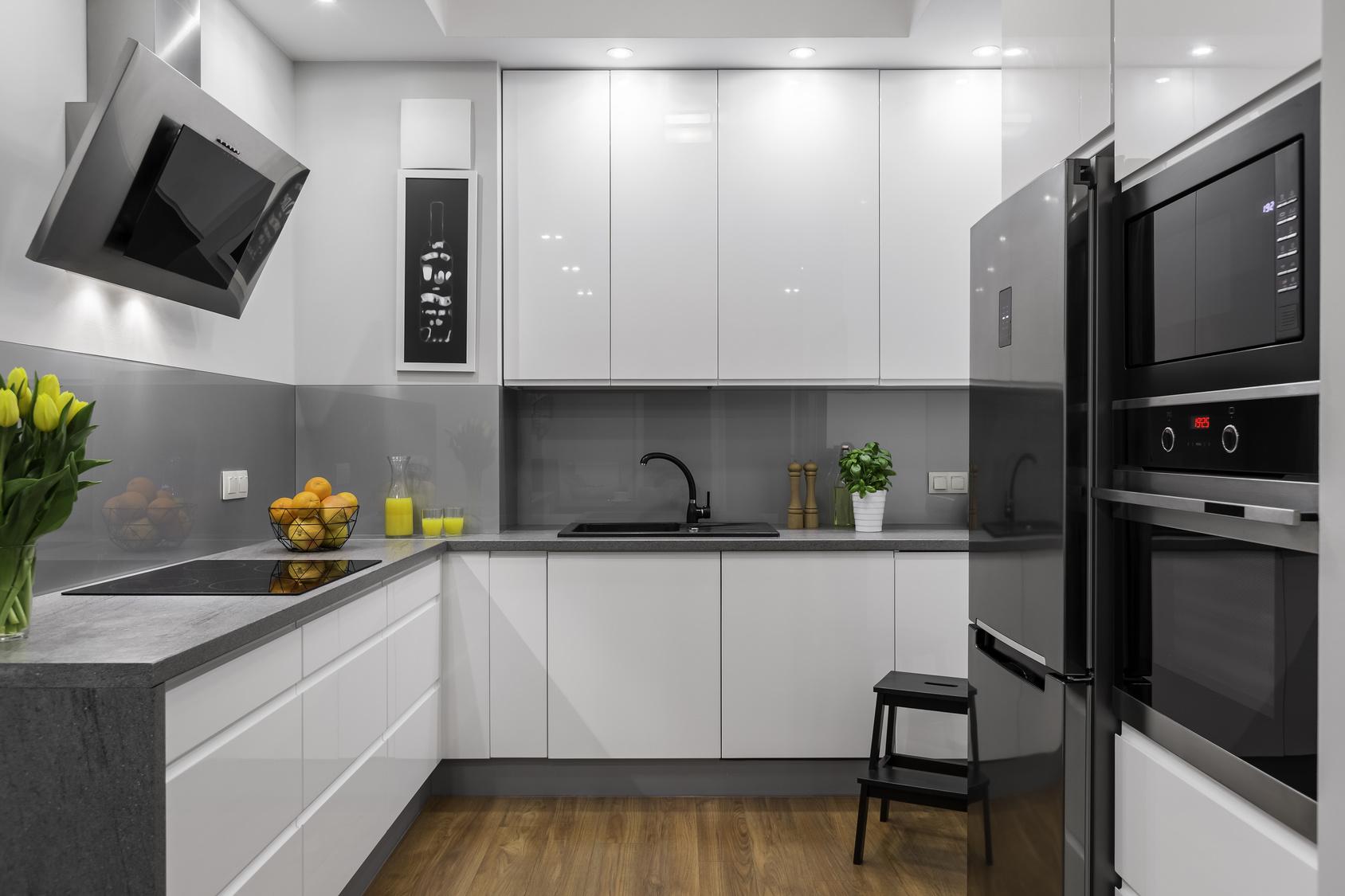 Kuchnia Biało Szara Minimalistyczna Difu